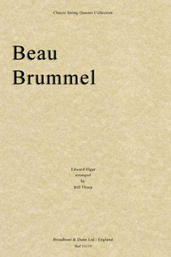 Elgar - Beau Brummel (String Quartet Score)