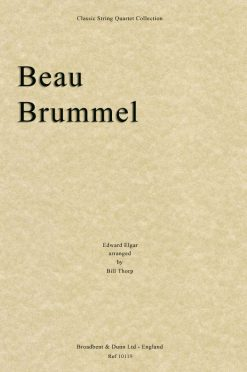 Elgar - Beau Brummel (String Quartet Parts)
