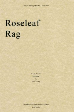 Joplin - Roseleaf Rag (String Quartet Score)
