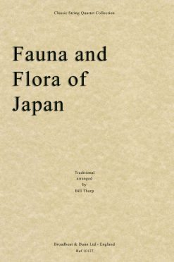 Traditional - Fauna and Flora of Japan (String Quartet Score)
