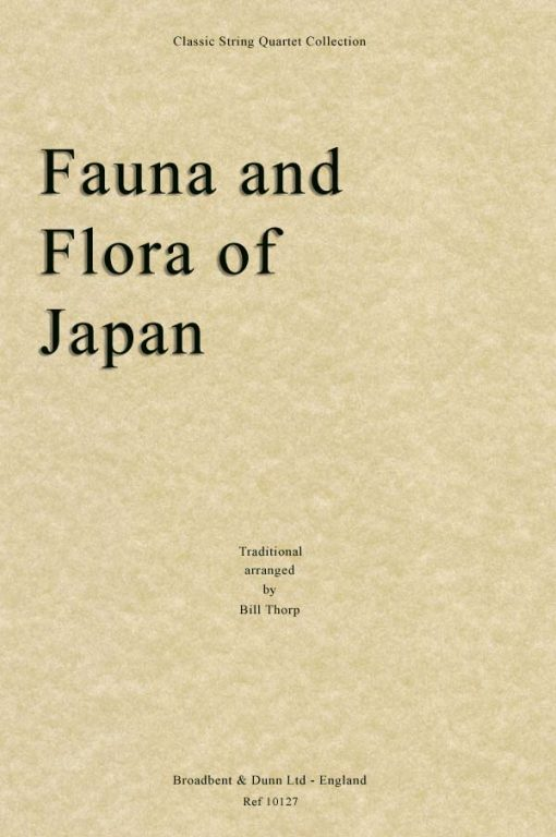Traditional - Fauna and Flora of Japan (String Quartet Parts)