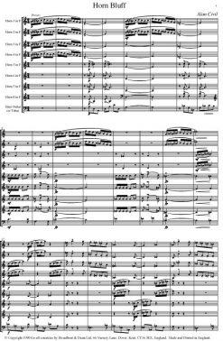 Alan Civil - Horn Bluff (Horn Octet with Bass Guitar or Tuba) - Score Digital Download