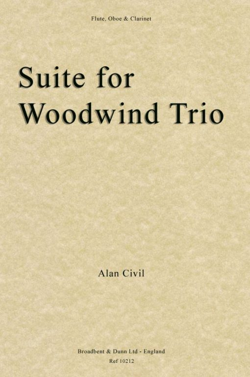 Alan Civil - Suite for Woodwind Trio (Flute
