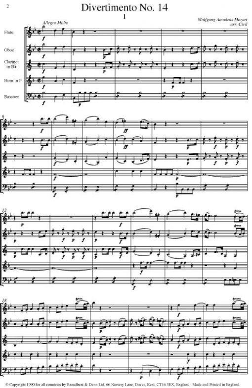 Mozart - Divertimento No. 14