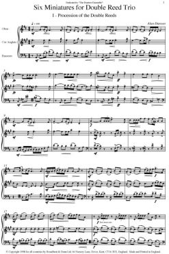 Alan Danson - Six Miniatures for Double Reed Trio (Oboe