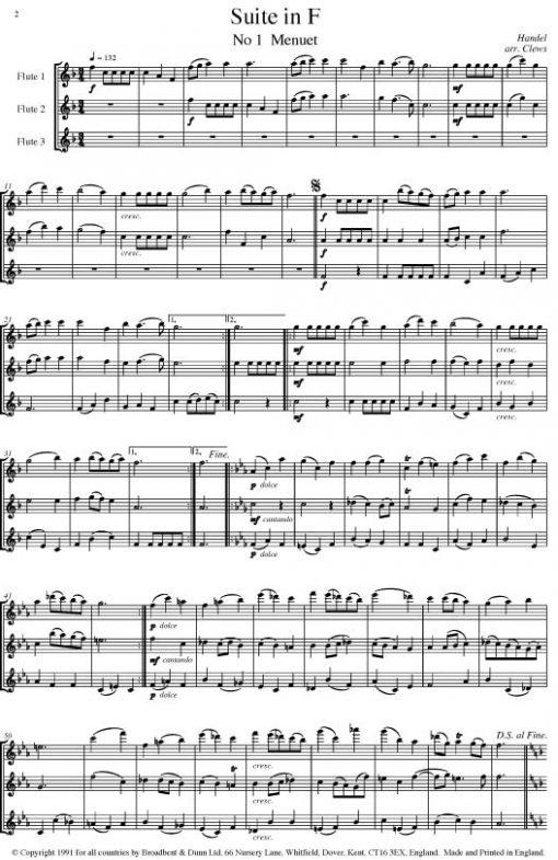 Handel - Three Water Music Suites (Flute Trio) - Score Digital Download