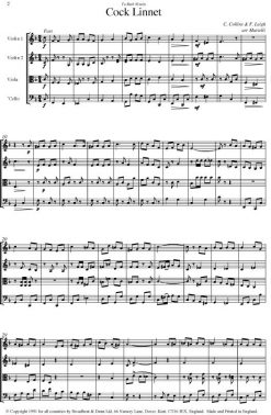 Collins & Leigh - Cock Linnet (String Quartet Score) - Score Digital Download