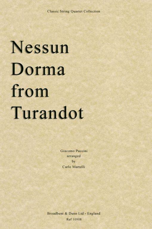 Puccini - Nessun Dorma from Turandot (String Quartet Score)