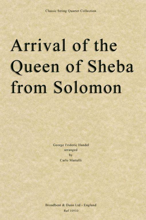 Handel - Arrival of the Queen of Sheba from Solomon (String Quartet Score)