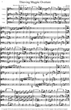 Rossini - The Thieving Magpie Overture (String Quartet Parts) - Parts Digital Download