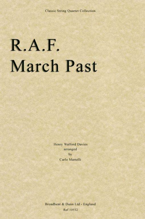 Davies - R.A.F. March Past (String Quartet Score)