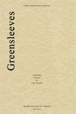 Traditional - Greensleeves (String Quartet Score)
