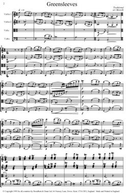 Traditional - Greensleeves (String Quartet Score) - Score Digital Download