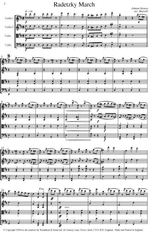 Strauss I - Radetzky March