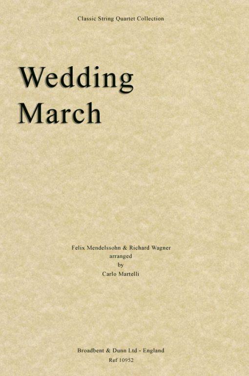 Mendelssohn & Wagner - Wedding March (String Quartet Score)