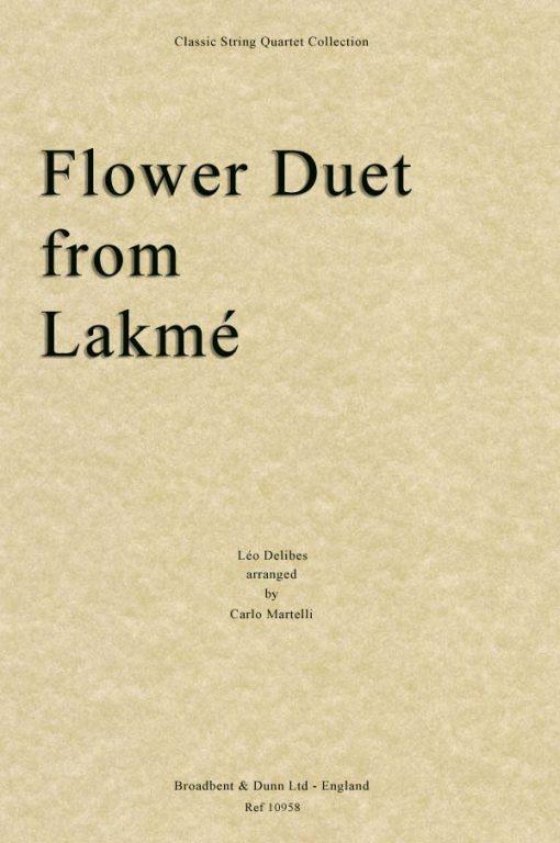 Delibes - Flower Duet from Lakmé (String Quartet Score)