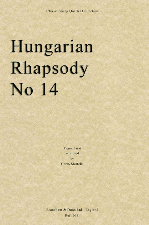 Liszt - Hungarian Rhapsody No. 14 (String Quartet Parts)