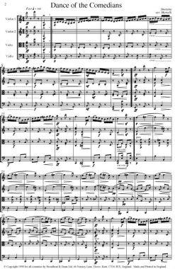 Smetana - Dance of the Comedians from The Bartered Bride (String Quartet Parts) - Parts Digital Download