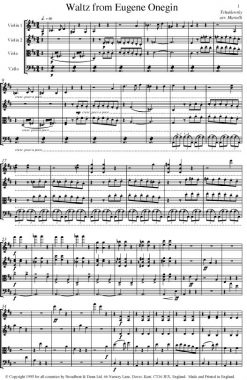 Tchaikovsky - Waltz from Eugene Onegin