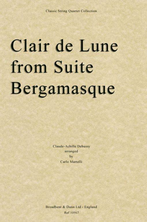Debussy - Clair de Lune from Suite Bergamasque (String Quartet Score)
