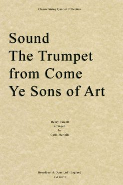 Purcell - Sound The Trumpet from Come Ye Sons of Art (String Quartet Score)
