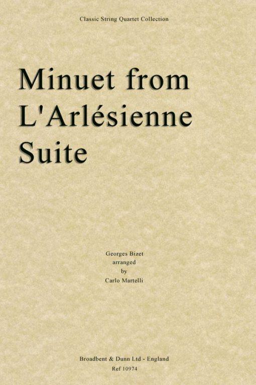 Bizet - Minuet from L'Arlésienne Suite (String Quartet Score)