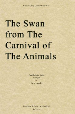 Saint-Saëns - The Swan from The Carnival of the Animals (String Quartet Score)