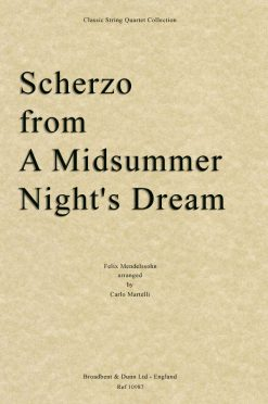 Mendelssohn - Scherzo from A Midsummer Night's Dream (String Quartet Score)