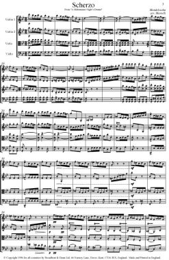 Mendelssohn - Scherzo from A Midsummer Night's Dream (String Quartet Score) - Score Digital Download