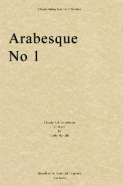 Debussy - Arabesque No. 1 (String Quartet Score)