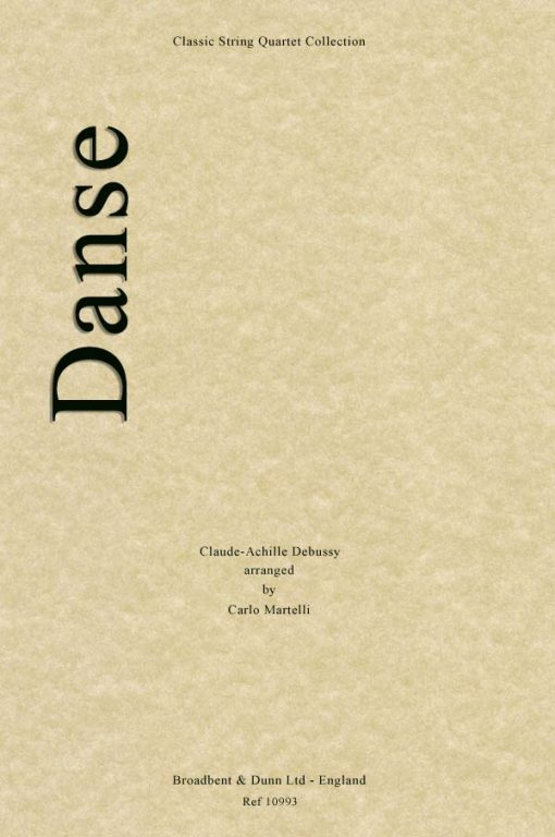 Debussy - Danse (String Quartet Score)