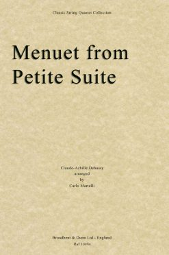 Debussy - Menuet from Petite Suite (String Quartet Score)