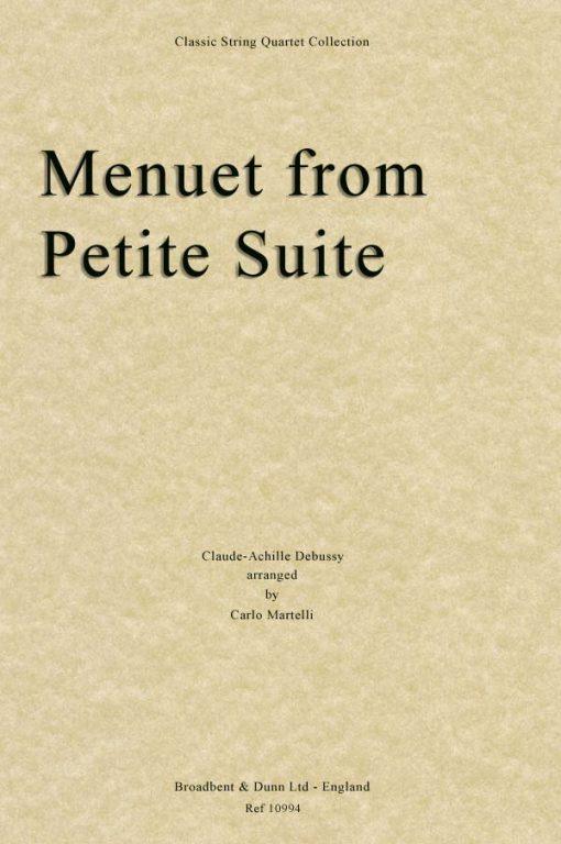 Debussy - Menuet from Petite Suite (String Quartet Score)