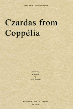 Delibes - Czardas from Coppélia (String Quartet Score)