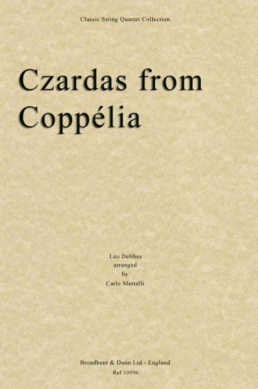 Delibes - Czardas from Coppélia (String Quartet Parts)