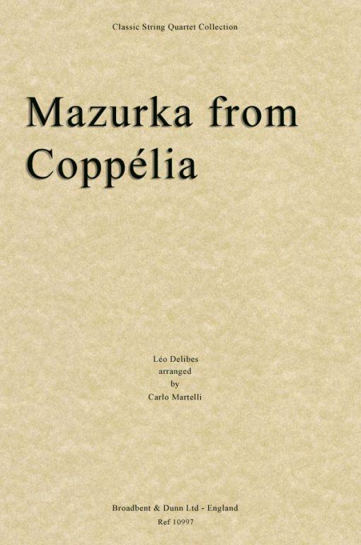 Delibes - Mazurka from Coppélia (String Quartet Score)