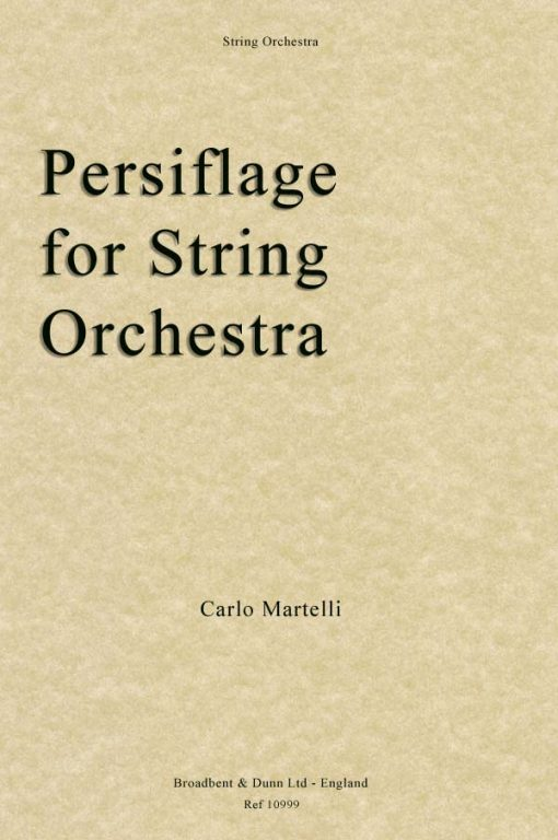 Carlo Martelli - Persiflage for String Orchestra (Parts)