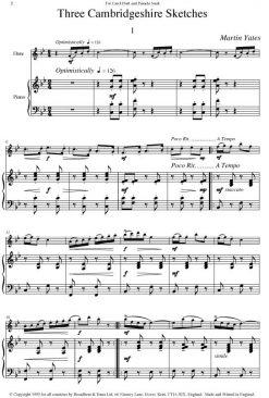 Martin Yates - Three Cambridgeshire Sketches (Flute & Piano) - Digital Download