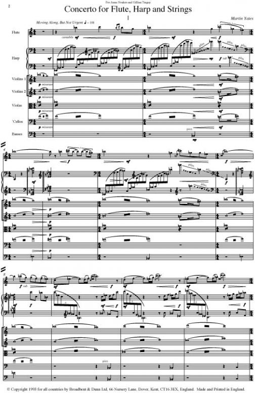 Martin Yates - Concerto for Flute