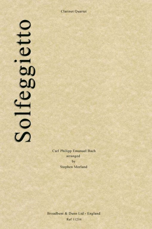 C. P. E. Bach - Solfeggietto (Clarinet Quartet)