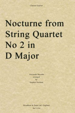 Borodin - Nocturne from String Quartet No. 2 in D Major (Clarinet Quartet)