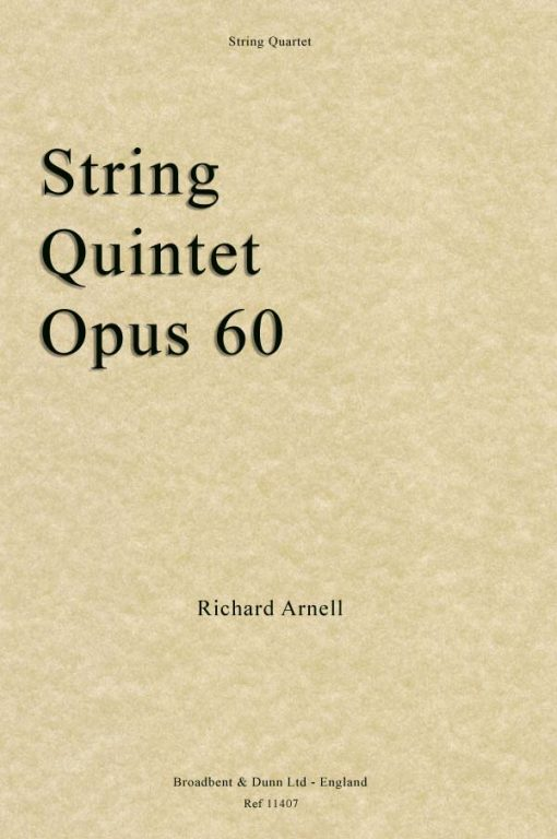 Richard Arnell - String Quintet