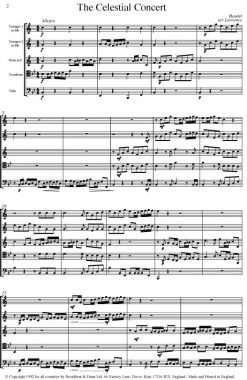 Handel - The Celestial Concert from Samson (Brass Quintet) - Score Digital Download
