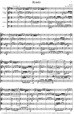 Haydn - Rondo from Symphony No. 99 (Brass Quintet) - Score Digital Download