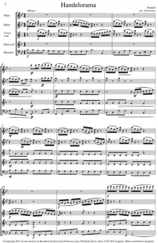 Handel - Handelorama (Wind Quintet) - Parts Digital Download