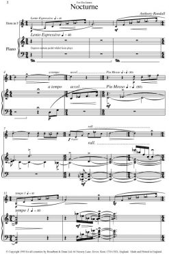 Anthony Randall - Nocturne (Horn in F & Piano) - Digital Download