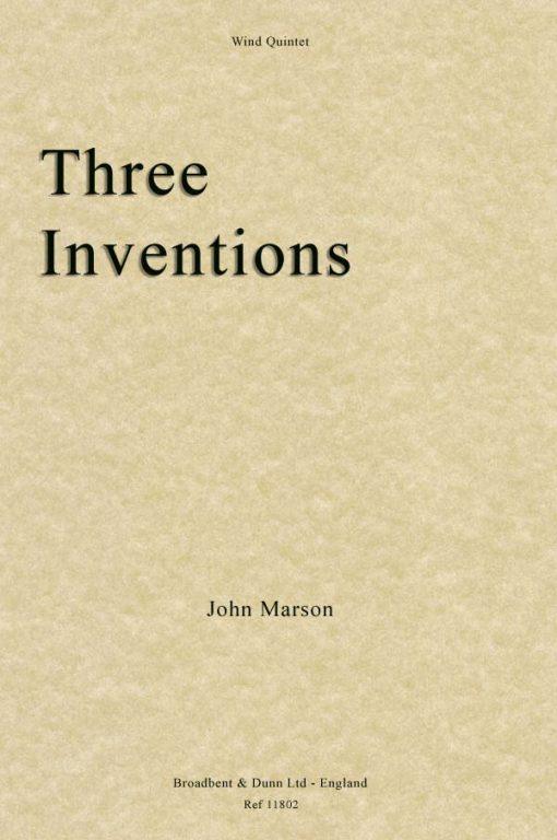John Marson - Three Inventions (Wind Quintet)