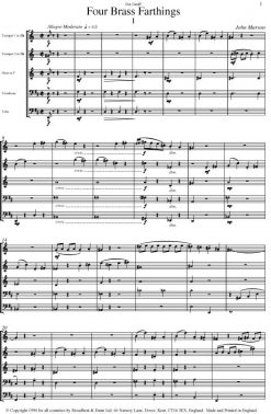 John Marson - Four Brass Farthings (Brass Quintet) - Score Digital Download