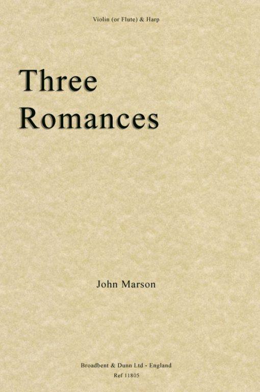 John Marson - Three Romances (Violin or Flute & Harp)