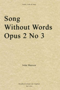 John Marson - Song without Words
